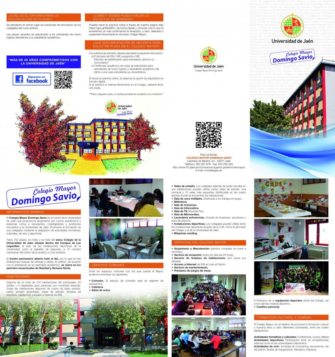 Solicitud De Plaza E Impresos Colegio Mayor Domingo Savio